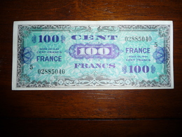 FRANCE  1944 * 100 FRANCS  Serie 5   SUP - 1945 Verso France