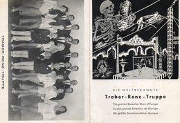 Carte Double. Allemagne.  TRABER RENZ TRUPPE.  La Plus Grande Sensation En Europe. - Cirque