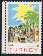 Viñeta, Label Cinderella TURKEY (Izmir). Ministry Of Tourism. Turistica - 1921-... República