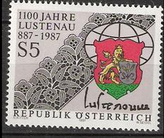 Austria 1987 1100 Years Lustenau. Municipality Coat Of Arms, Embroidery Patterns MI 1885  MNH(**) - 1945-.... 2nd Republic
