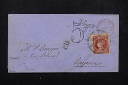 ESPAGNE - Lettre De Madrid Pour La France En 1860 , Oblitérations à étudier , Affranchissement Plaisant - L 23045 - Covers & Documents