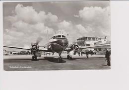 Vintage Rppc KLM K.L.M Royal Dutch Airlines Convair 240 @ Schiphol Amsterdam Airport - 1919-1938: Entre Guerres
