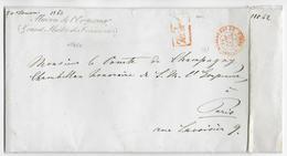 1863 - LETTRE En FRANCHISE Du GRAND MAITRE Des CEREMONIES MAISON DE L'EMPEREUR Avec MARQUE CONTRE-SEING - Marcophilie (Lettres)