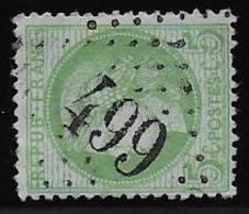 Cérès N° 53 Obl. G.C. 499 De Blérancourt ( Aisne ) - 1871-1875 Ceres