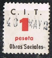 Viñeta C.I.T. Confederacion Internacionade Trabajo, 1 Pts, 1948, Guerra Civil º - Viñetas De La Guerra Civil