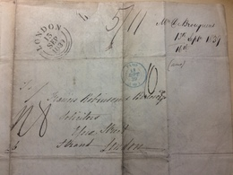 FRANCE 1839 Entire Paris To London - Postmark Collection (Covers)