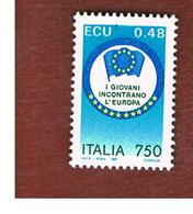 ITALIA - UN.1976   -   1991   I GIOVANI INCONTRANO L' EUROPA    -  NUOVI **(MINT) - 6. 1946-.. República