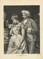 """Holzstich """"Tief Gekränkt"""" Andreotti - """"Die Gartenlaube"""" 1893 - Estampes & Gravures"""