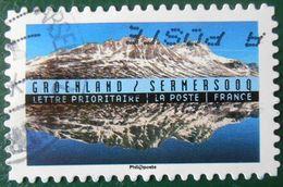 1369 France 2016 Oblitéré Autoadhésif  Reflets Paysages Du Monde Groenland Sermersooq - Adhésifs (autocollants)