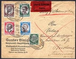 Deutsches Reich 1934 - Kolonialforscher Mi. 540 - 543 Kompletter Satz Auf Express Brief - Deutschland