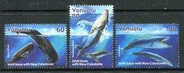 Vanuatu 2001 Whales Set MNH (SG 857-859) - Vanuatu (1980-...)