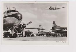 Vintage Rppc KLM K.L.M Royal Dutch Airlines Fleet Convair 240 @ Schiphol Amsterdam Airport - 1919-1938: Entre Guerres