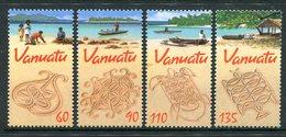 Vanuatu 2001 Sand Drawings Set MNH (SG 861-864) - Vanuatu (1980-...)