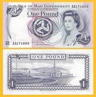 Isle Of Man 1 Pound P-40c 2009 UNC - [ 4] Isle Of Man / Channel Island