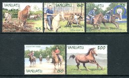 Vanuatu 2002 Local Horses Set MNH (SG 871-875) - Vanuatu (1980-...)
