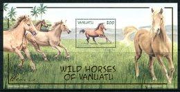 Vanuatu 2002 Local Horses MS MNH (SG MS876) - Vanuatu (1980-...)