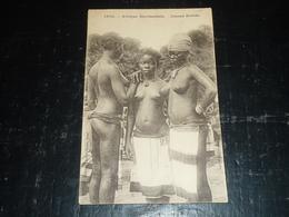 AFRIQUE OCCIDENTALE, JEUNES EBRIES - 3 JEUNES FILLES SEINS NUES - AFRIQUE (AD) - Côte-d'Ivoire