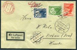 1927 Austria First Flight Cover Wien - Brno. Flugpost Flugfeld Aspern - Airmail