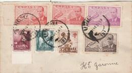 Espagne Partie De Lettre BARCELONA 01/1953 Pour  Haute Garonne France - 1931-Today: 2nd Rep - ... Juan Carlos I