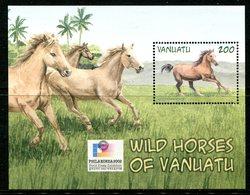 Vanuatu 2002 PhilaKorea Stamp Exhibition - Wild Horses MS MNH (SG MS885) - Vanuatu (1980-...)