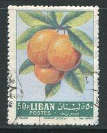 LIBAN- Y&T N°224- Oblitéré (oranges) - Fruits
