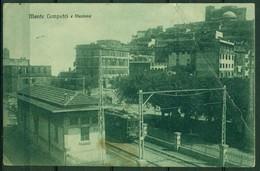 CARTOLINA - CV310 MONTE COMPATRI (Roma) Stazione, FP, Viaggiata 1924, Piega, Vedi Scansione - Roma