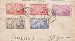 Espagne Partie De Lettre BARCELONA 3/11/1953  Pour  Haute Garonne France - 1931-Today: 2nd Rep - ... Juan Carlos I