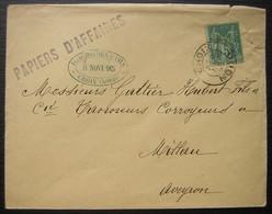 Croix (Nord) 1895 Isaac Molden Papiers D'affaires Pour Millau - Postmark Collection (Covers)