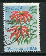 LIBAN- Y&T N°241- Oblitéré (fleurs) - Végétaux