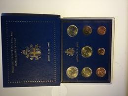 Vatican 2002 - Première émission De Monnaie En EURO - Set Des Huit Pièces En Blister D'origine - Disponible En Belgique. - Vaticano (Ciudad Del)