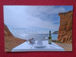 POSTAL POST CARD CARTE POSTALE PUBLICITARIA PUBLICIDAD ADVERTISING IBIZA BALEARIC ISLANDS SPAIN RESTAURANT SA CALETA VER - Publicidad