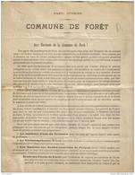RARE !! 1899 ELECTION à FORET ( Nassogne ) -- PARTI OUVRIER -- - Nassogne