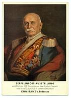 Germany- Portrait Of Count Von Zeppelin In Military Uniform - 1938 Zeppelin Exhibit And Show In Konstanz Germany - Allemagne