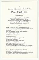 Doodsprentje Pater Jozef UTEN Redemptorist Diest 1909 Priester Roeselare 1993 - Devotion Images