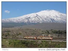 143 Treno FCE - Ferrovia Circumetnea ADe IMPA ITIN Bronte Catania  Rairoad Trein Railweys Treni Vulcano Etna - Trains