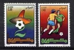 ALGERIE 1986, FOOTBALL MEXICO 86, 2 Valeurs, NEUFS / MINT. R058 - Coupe Du Monde