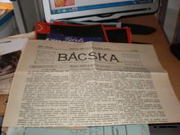 Bacska Backa Zombor Sombor 1901  Old Newspaper - Unclassified