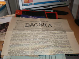 Bacska Backa Zombor Sombor 1901  Old Newspaper - Non Classés