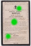 DOLHAIN 1865 Hubert Joseph BRULS époux HAVENITH - Décès