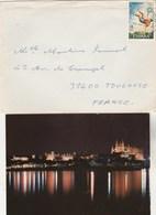 Espagne  Lettre  Cachet  PALMA DE Mallorca AVEC Carte Postale Pour Toulouse France - 1931-Aujourd'hui: II. République - ....Juan Carlos I