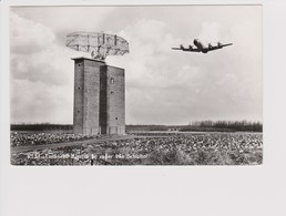 Vintage Rppc KLM K.L.M Royal Dutch Airlines Lockheed Electra L-188 Aircraft@Schiphol Airport - 1919-1938: Entre Guerres