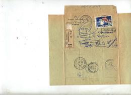 Lettre Recommandee Nantes Sur Bijoux + Retour  Non Reclamé - Marcophilie (Lettres)