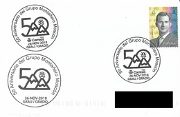 SPAIN. POSTMARK 50th ANNIV. MOUNTAINEERING GROUP MOSCON. GRAU/GRADO 2018 - Marcofilia - EMA ( Maquina De Huellas A Franquear)