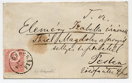 HUNGARY 1871 5 K. Lithograped On Cover From Oroshaza To Pest.  Michel 3a - Hungary