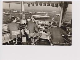 Vintage Rppc KLM K.L.M Royal Dutch Airlines Lockheed Constellation & Douglas Dc-8, Dc-7 @ Schiphol Airport - 1919-1938: Entre Guerres