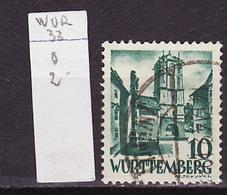 Allemagne Wurtemberg - Germany - Deutschland 1948-49 Y&T N°33 - Michel N°33 (o) - 10p Porte De Wangen - Zone Française