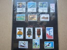 VEND BEAUX TIMBRES DE POLYNESIE , ANNEE 1980 + P.A. + BLOC , XX !!! - Polynésie Française