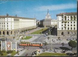 BULGARIA - SOFIA - CENTRO CITTA- HOTEL BALKAN - TRAM - VIAGGIATA 1969 - Bulgaria