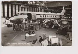 Vintage Rppc KLM K.L.M Royal Dutch Airlines Vickers Viscount 800 @ Schiphol Amsterdam Airport - 1919-1938: Entre Guerres