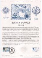 - Explorateur DUMONT D'URVILLE - Document Philatélique Officiel CONDÉ-SUR-NOIREAU 20.2.1988 - - Explorateurs